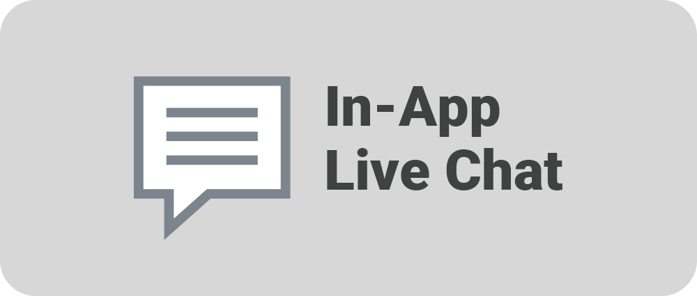 In-App Live Chat